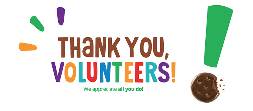 Thank you, volunteers! We appreciate all you do! graphic